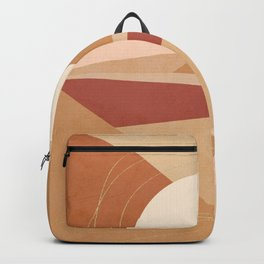 Golden Abstract Sunrise - Earthy  Backpack