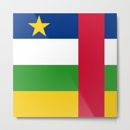 Central African Republic Flag Metal Print