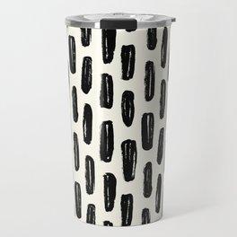 Ivory Vertical Dash Travel Mug
