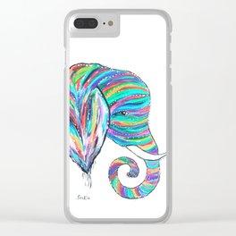 Rainbow Trunks Clear iPhone Case