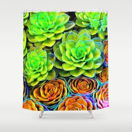 Chicks and Hens Bright Shower Curtain