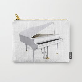 White Grand Piano Carry-All Pouch