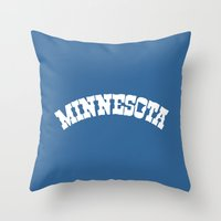 minnesota Throw Pillows featuring Minnesota Arch by Jeremy Jon Myers