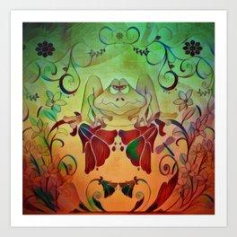 A Frogs World Art Print