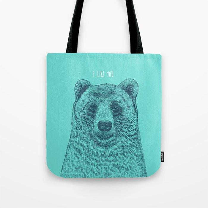 I Like You (Bear) Tote Bag