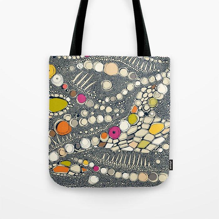 iguana skin indigo pop Tote Bag
