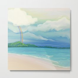 Hawaii Rainbow Metal Print