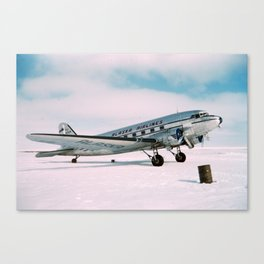 Vintage aviation photograph Alaska Airlines airplane air plane classic pilot flight travel photo Canvas Print