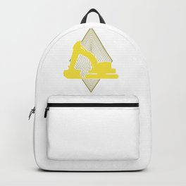 Yellow Excavator Backpack