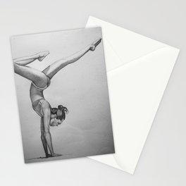 yoga pose Stationery Cards