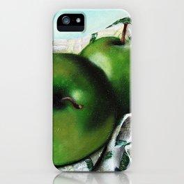 Green Apple and Tea Towel II iPhone Case