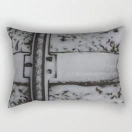 Snowy Traintracks Rectangular Pillow