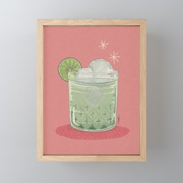 LEMON TONIC Framed Mini Art Print