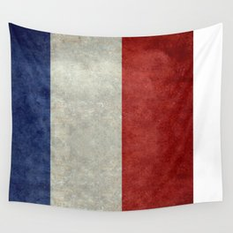 French Flag with vintage textures Wall Tapestry