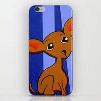 chihuahua iPhone & iPod Skins featuring Chihuahua by Britt Miller Art