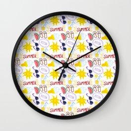 Summer and Relex Wall Clock