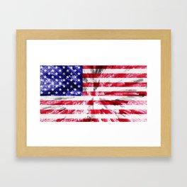 American Flag Extrude Framed Art Print