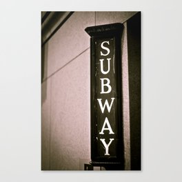 Philly Subway Canvas Print