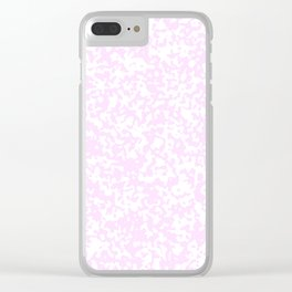 Small Spots - White and Pastel Violet Clear iPhone Case