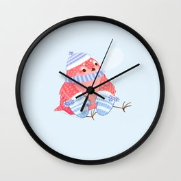 Cozy Canaries-Sittin With Mittens Wall Clock
