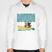 rowing Hoodies featuring Rowing by BATKEI