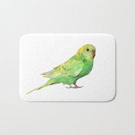 Geometric green parakeet Bath Mat
