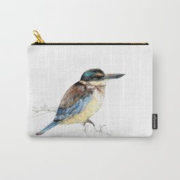 Mr Kōtare, New Zealand native kingfisher bird Carry-All Pouch