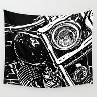 motorcycle Wall Tapestries featuring Motorcycle #1 by RS4S6