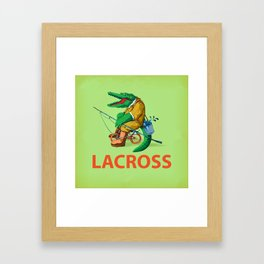 LACROSS ( Green version ) Framed Art Print