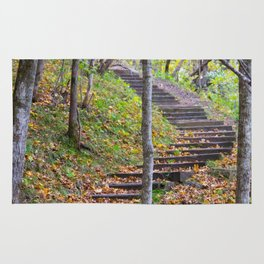Stairway into the Woods Rug