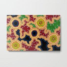 Aboriginal Art Authentic - Pathways Metal Print