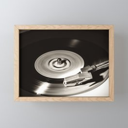 Music From a Vintage 45 RPM Record Playing on a Turntable 5 Framed Mini Art Print