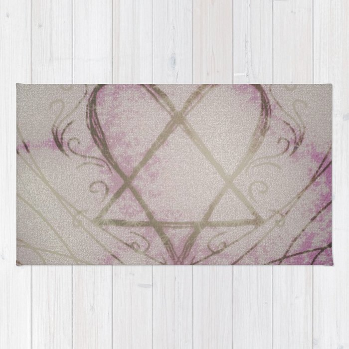 Heartagram Rug