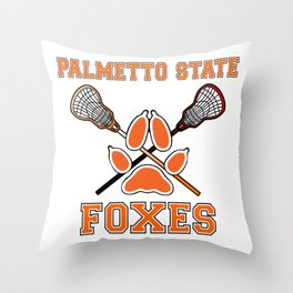 Palmetto State Foxes Exy Crest Throw Pillow