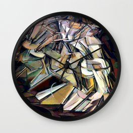 Marcel Duchamp Nude Descending a Staircase Wall Clock