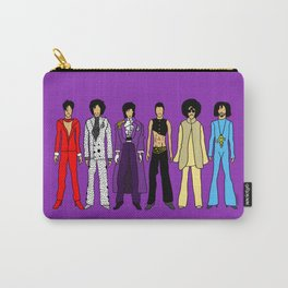 Outfits of Purple Fashion on Purple Carry-All Pouch