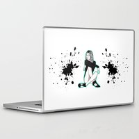 kate moss Laptop & iPad Skins featuring Kate M by Melania B
