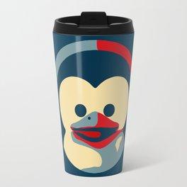 Linux tux penguin obama poster baby  Travel Mug
