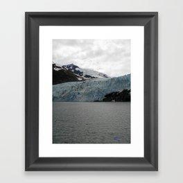 TEXTURES -- A Face of Portage Glacier Framed Art Print