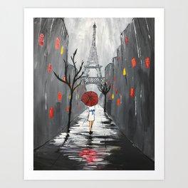 """""""Nuit Orageuse à Paris"""" Art Print"""