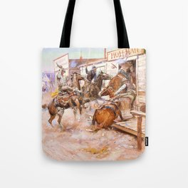 In Without Knocking - Charles Marion Russell Tote Bag