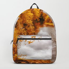 Autumn Along The River Backpack