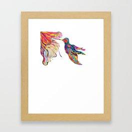 """Humhumbird"" Paulette Lust's whimsical, colorful, contemporary, original, fun, art.  Framed Art Print"