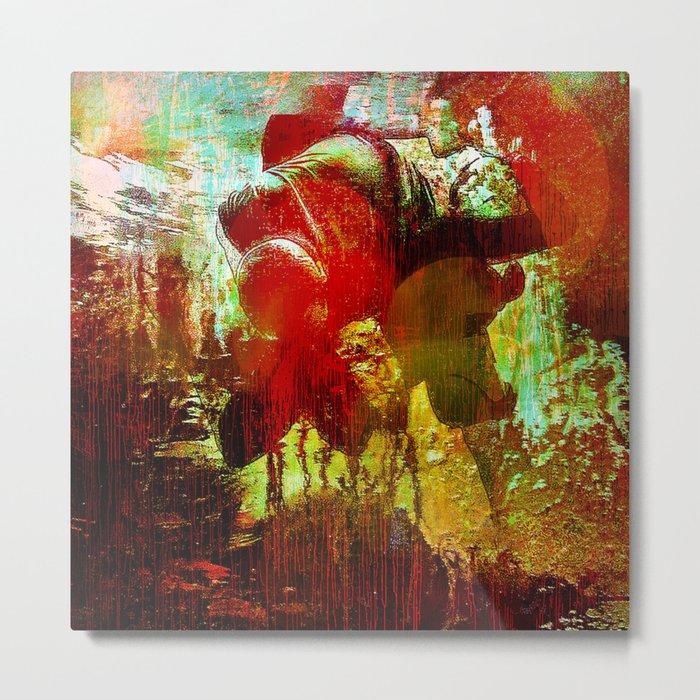 Abstract body Metal Print