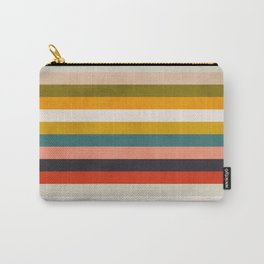modern abstract stripe geometric Carry-All Pouch