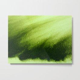 Indefinite Green Metal Print