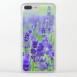 LAVENDER FIELD OF HAPPINESS Clear iPhone Case
