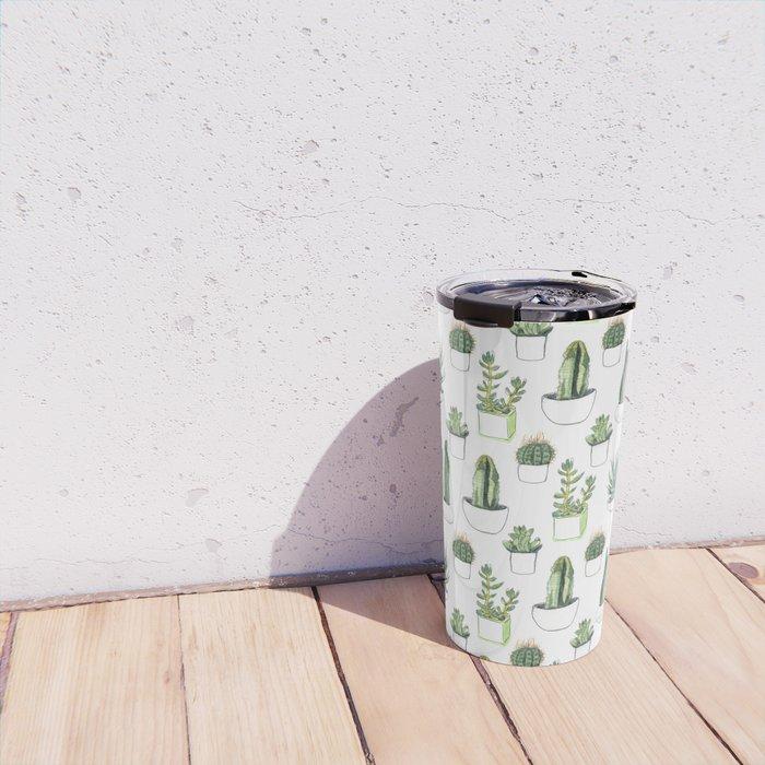 Watercolour Cacti & Succulents Travel Mug