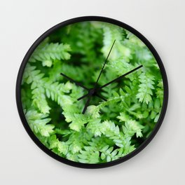 Little Green Leaves Wall Clock