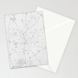 Atlanta Map Stationery Cards